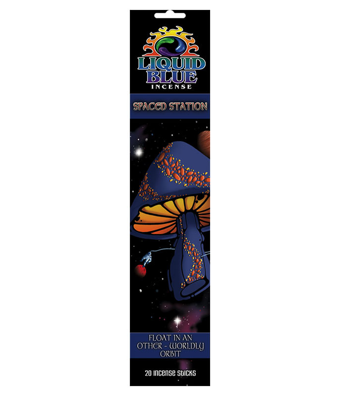 Light Fantasy Mystical Spaced Station Incense Pack Liquid Blue