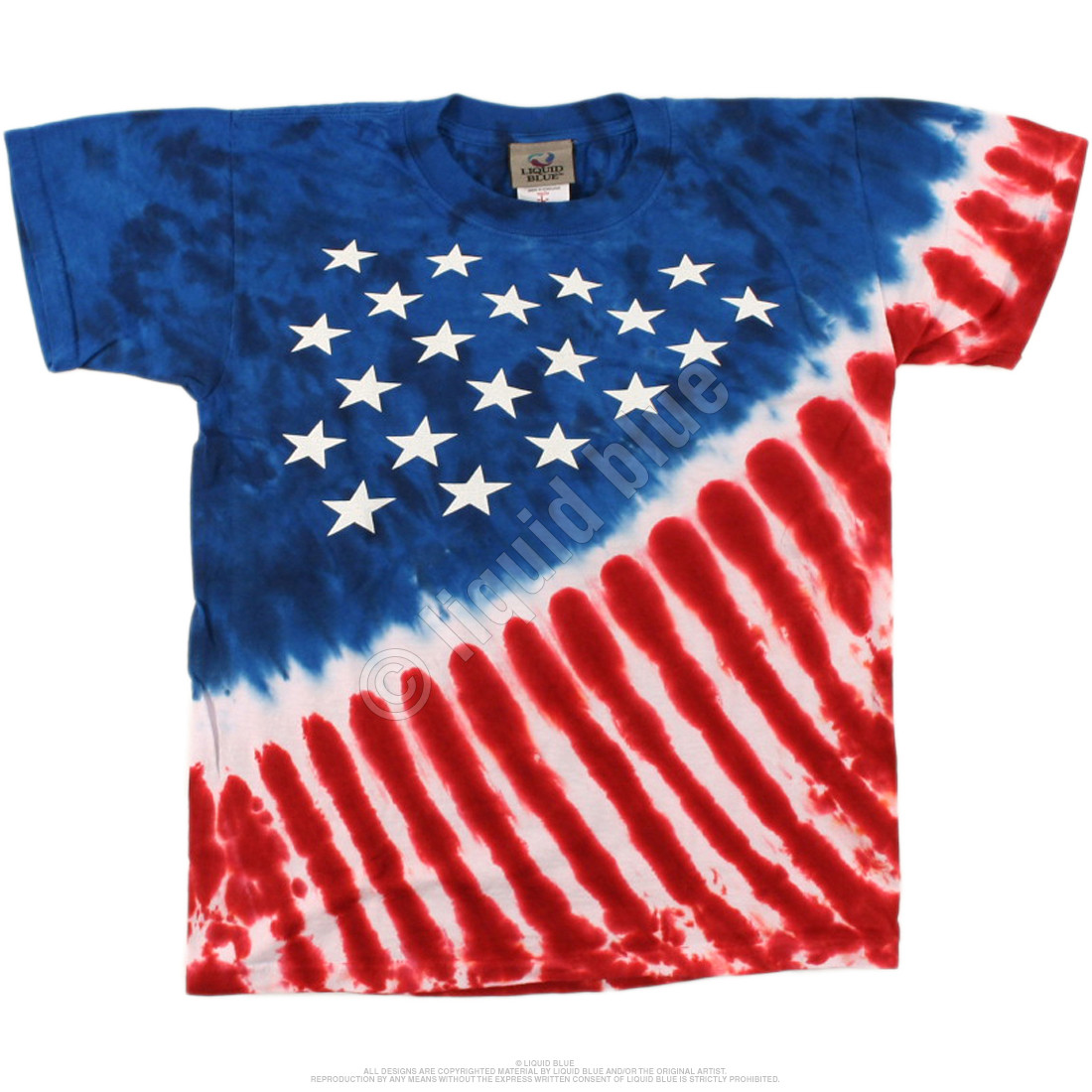 Stars And Stripes Youth Tie-Dye T-Shirt