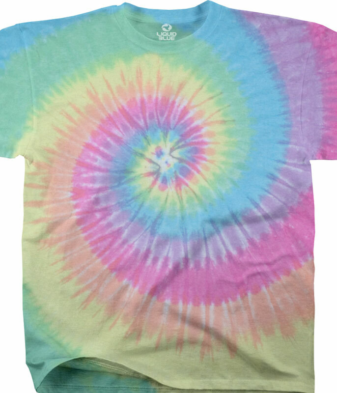 PASTEL SPIRAL YOUTH TIE-DYE T-SHIRT