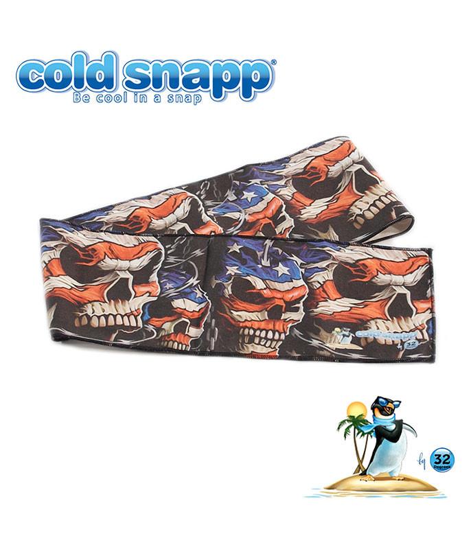 Cold Snapp Patriotic Skulls Sports Wrap Liquid Blue