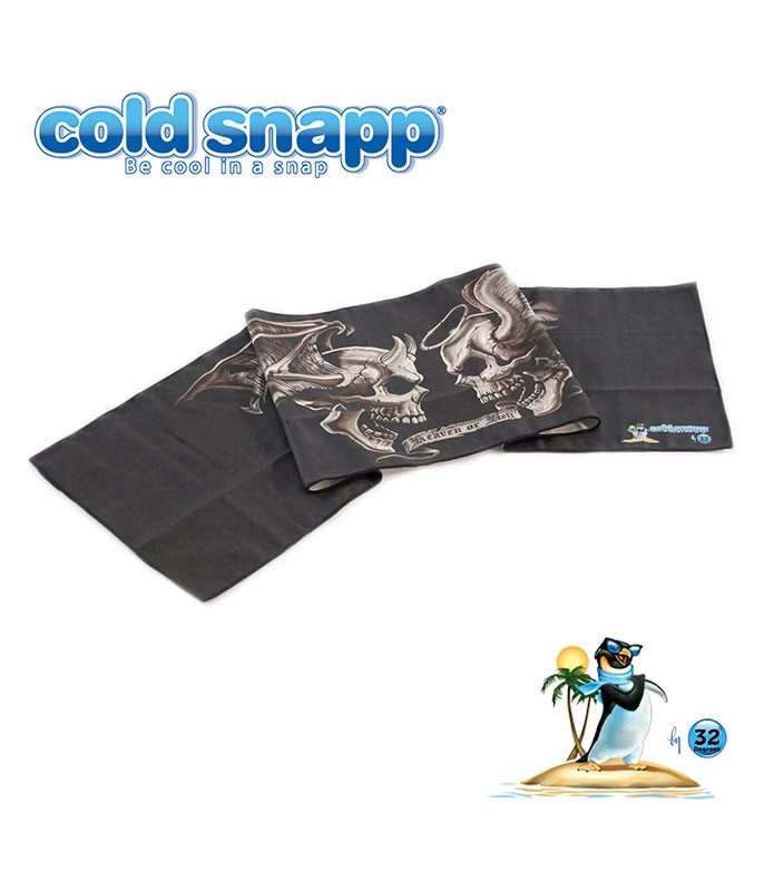 Cold Snapp Good And Evil Sports Towel Liquid Blue