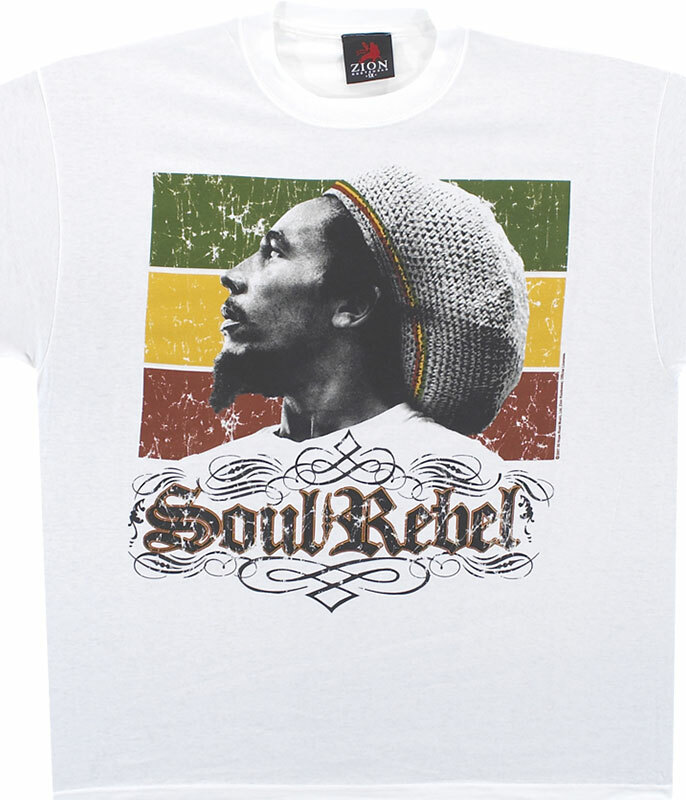 Bob Marley Soul Rebel White T-Shirt Tee