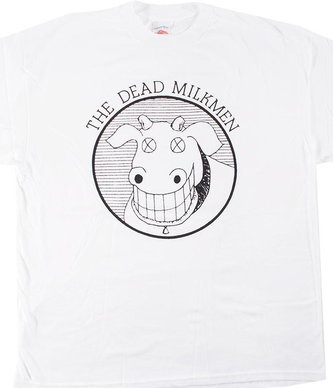 Dead Milkmen Cow Logo White T-Shirt Tee
