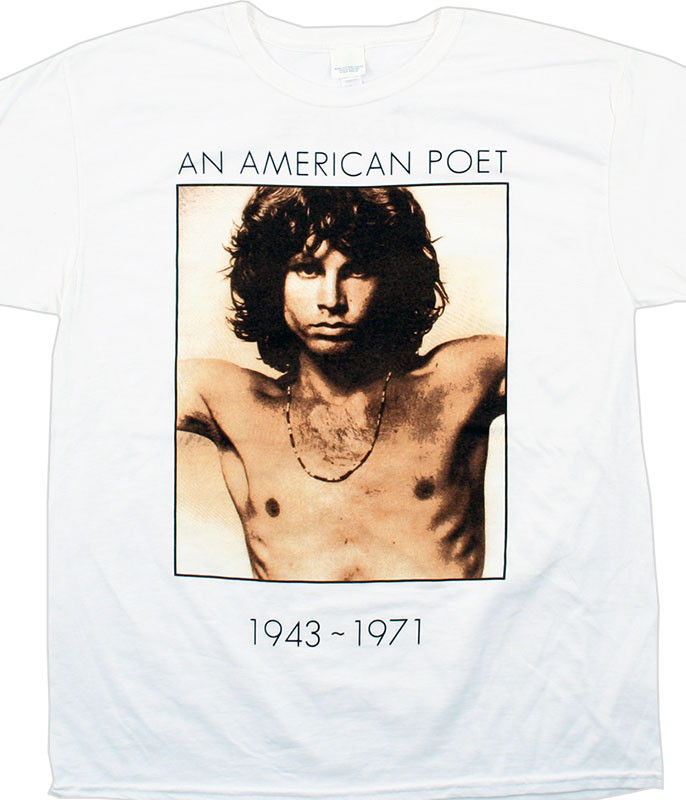 The Doors American Poet White Athletic T-Shirt Tee