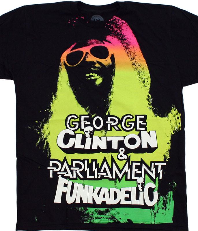 George Clinton Funkadelic Black T-Shirt Tee