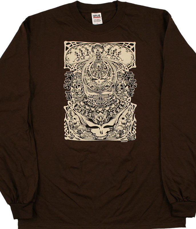 AIKO AIKO BROWN LONG SLEEVE T-SHIRT