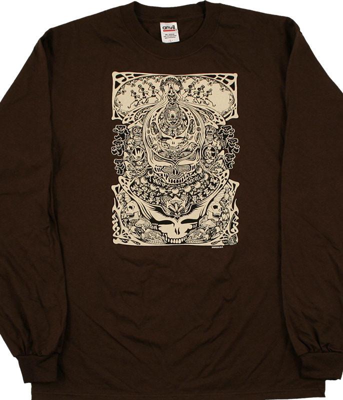 Grateful Dead Aiko Aiko Brown Long Sleeve T-Shirt Tee