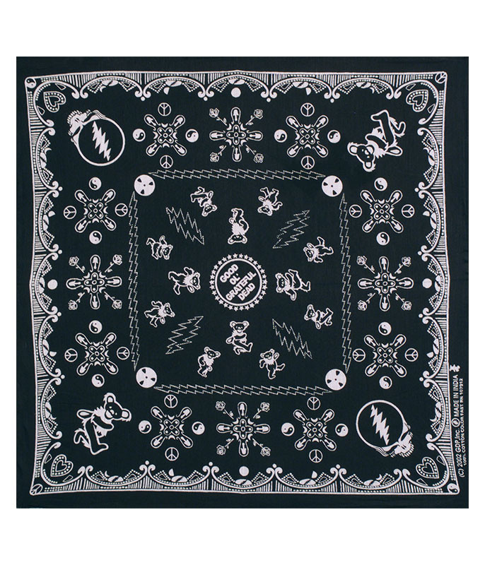 Grateful Dead Good Ol GD Black Bandana