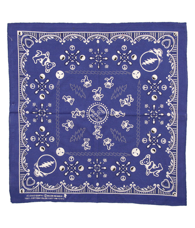 Grateful Dead Good Ol GD Navy Bandana