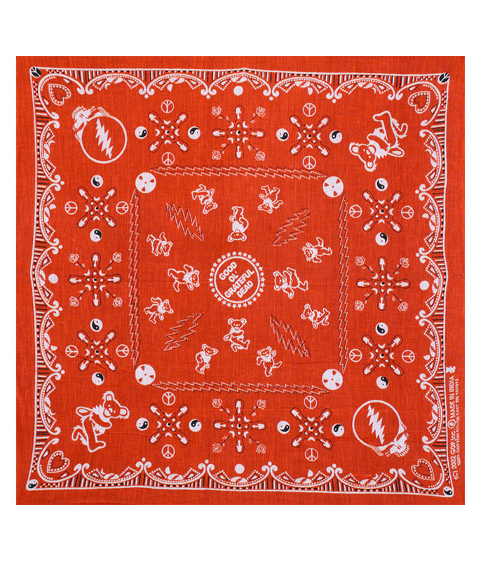 Grateful Dead Good Ol GD Red Bandana