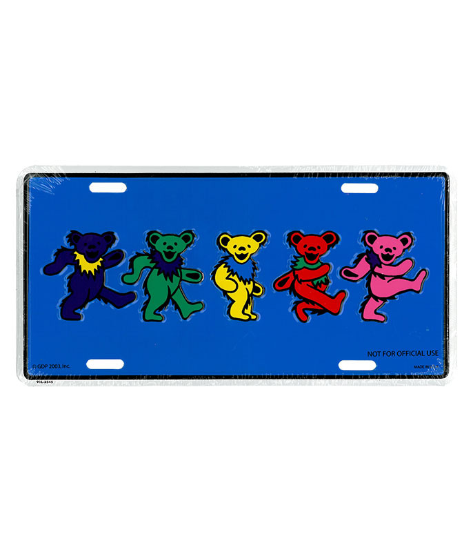 Grateful Dead GD Dancing Bears License Plate