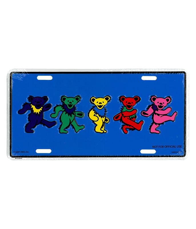 Grateful Dead GD Dancing Bears License Plate