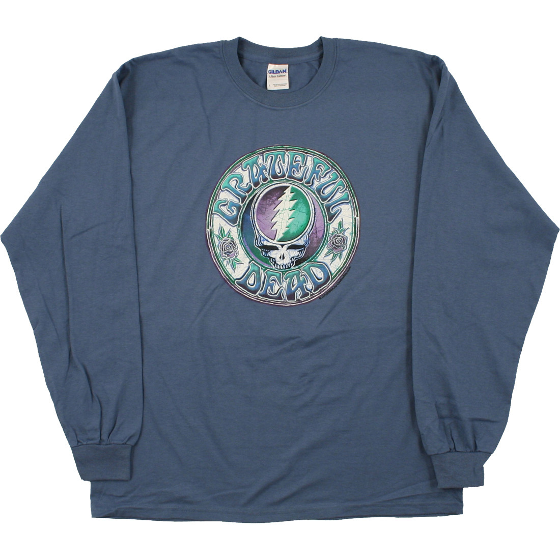 grateful dead batik syf blue long sleeve t shirt tee. Black Bedroom Furniture Sets. Home Design Ideas
