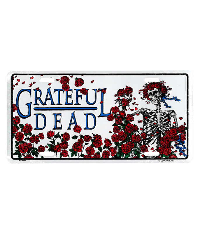 Grateful Dead GD Bertha Roses License Plate