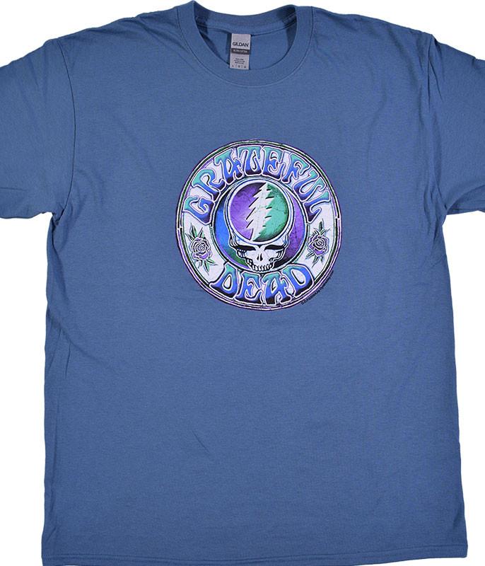 Grateful Dead Batik Blue T-Shirt Tee