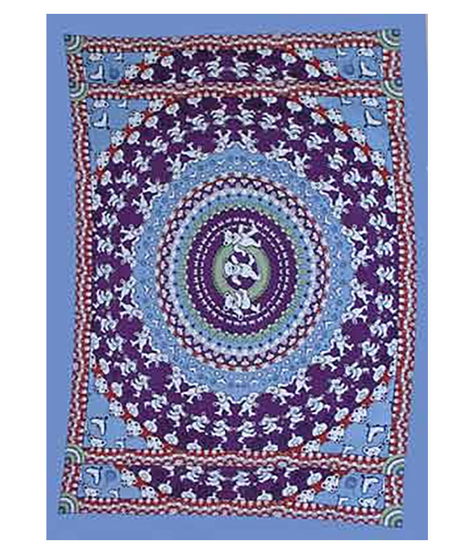 BEAR BLUE TAPESTRY