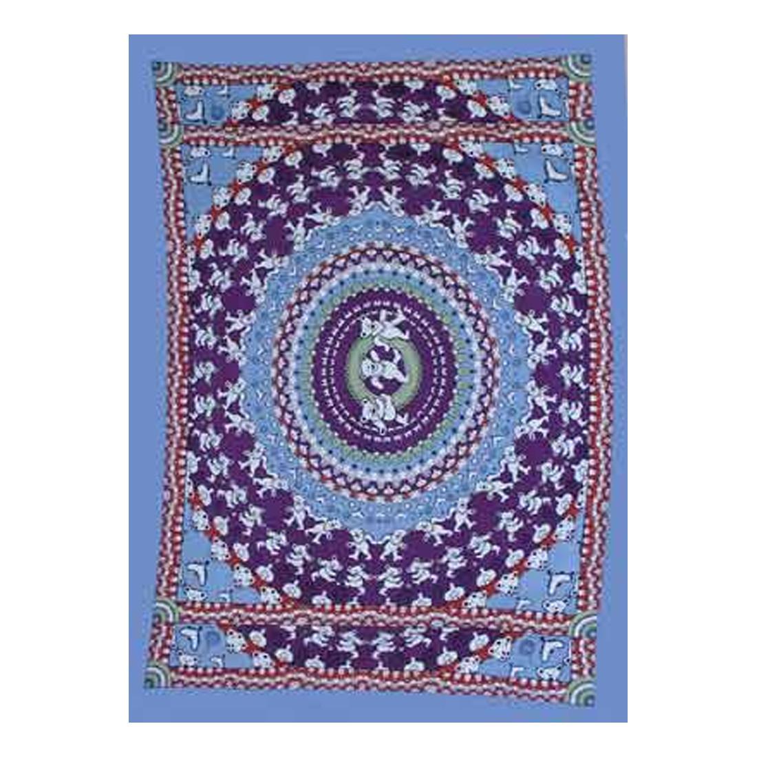 Bear Blue Tapestry