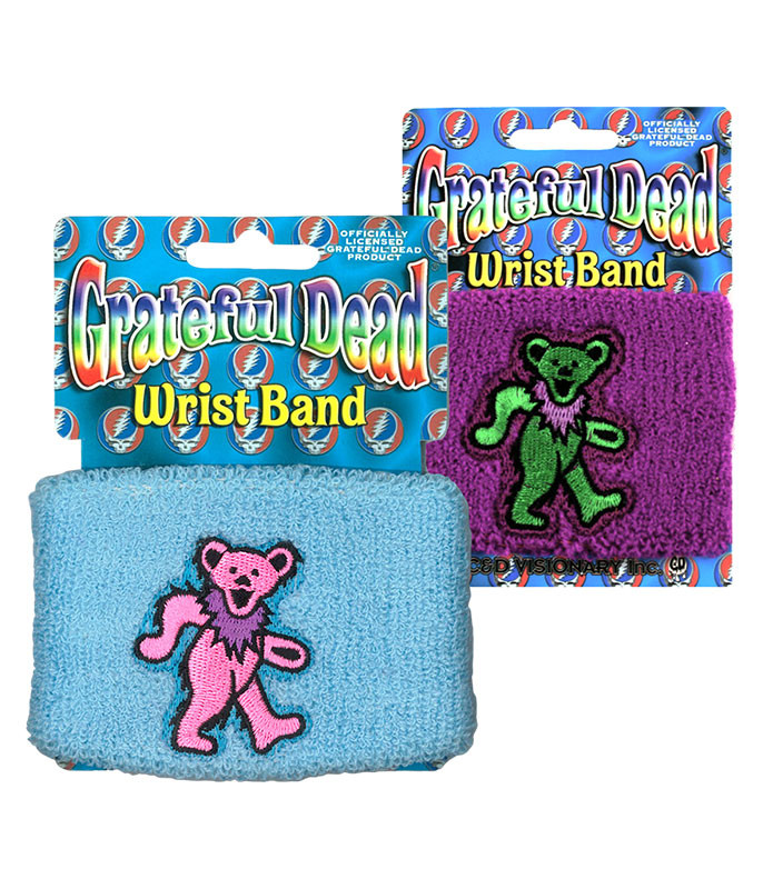 Grateful Dead GD Bear Purple Wristband