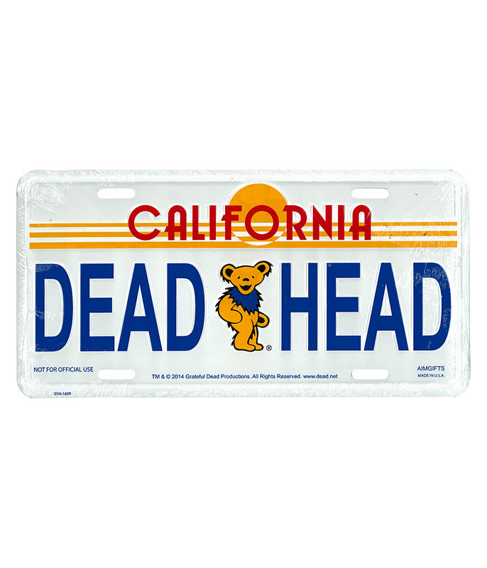 Grateful Dead GD Golden State License Plate