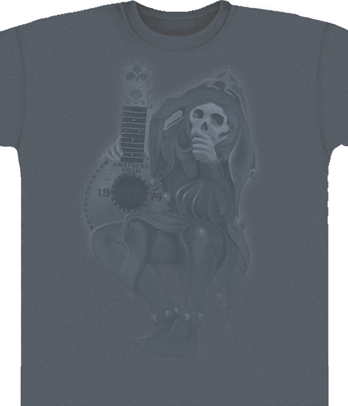 Grateful Dead GD Jester Grey T-Shirt Tee