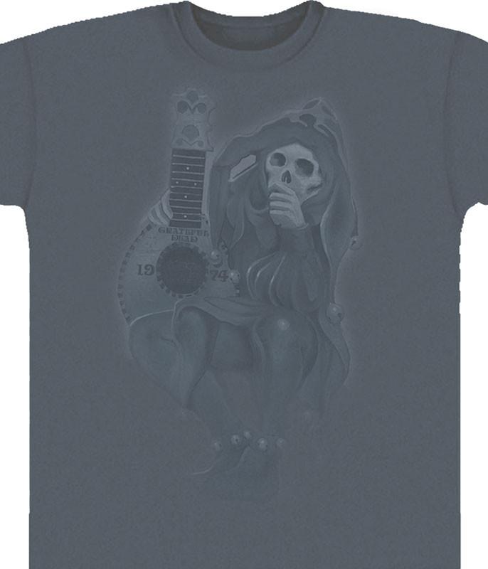 Grateful Dead GD Jester Grey T-Shirt Tee