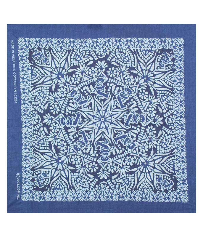 MANDALA BLUE BLUE BANDANA