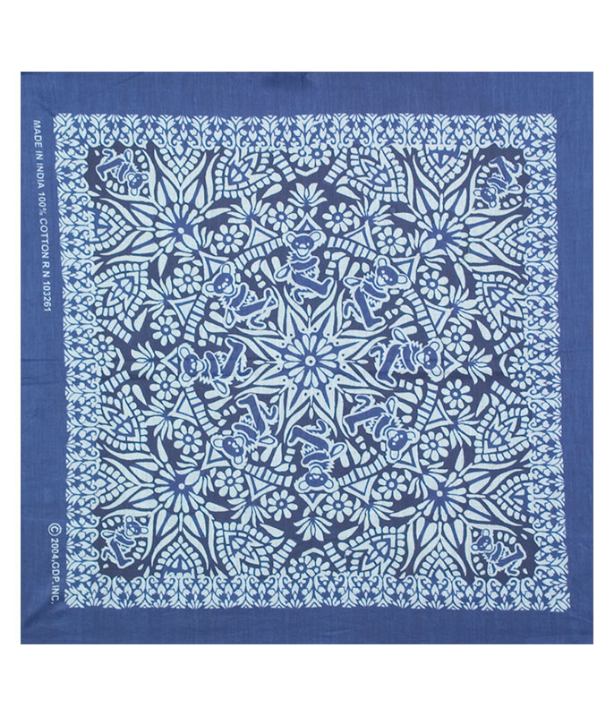 Grateful Dead Mandala Blue Bandana