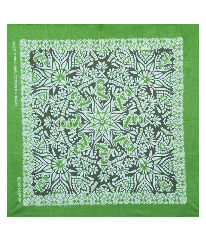Grateful Dead Mandala Green Bandana