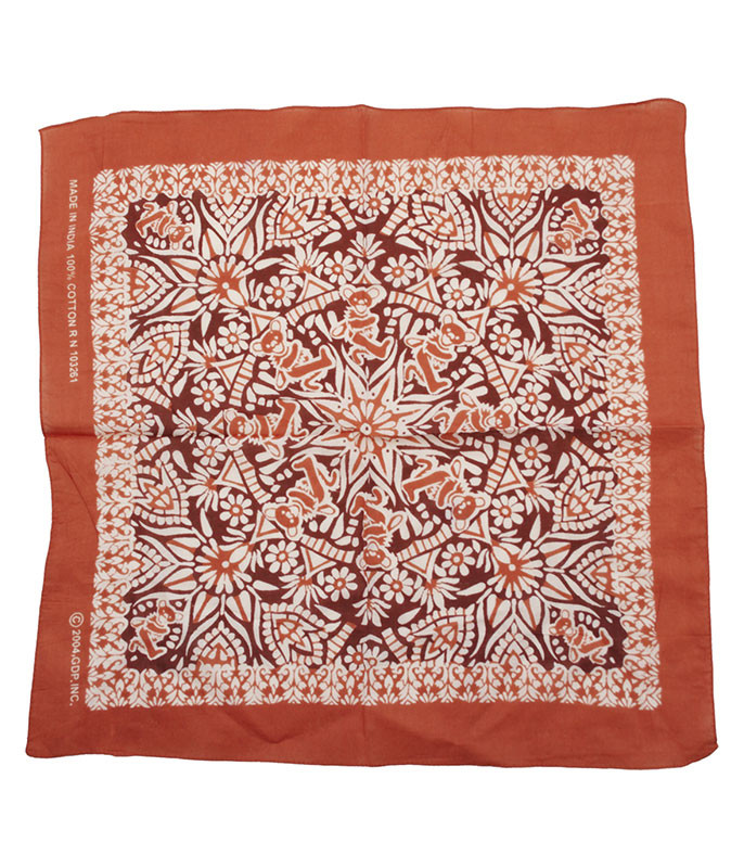 Grateful Dead Mandala Red Bandana