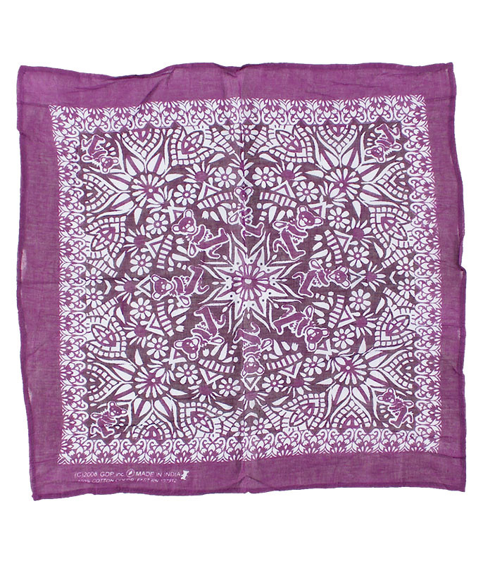 Grateful Dead Mandala Purple Bandana Purple