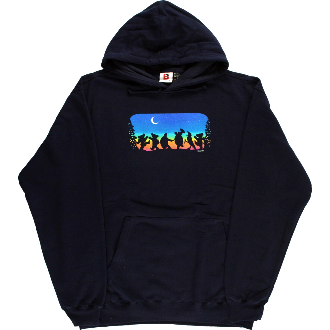 a1ae05a4295 Grateful Dead Moon Dance Navy Hoodie Liquid Blue