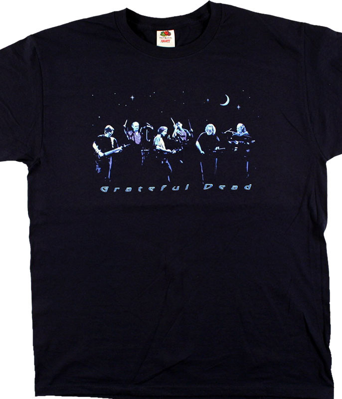 Grateful Dead Night Like Forever Navy T-Shirt Tee