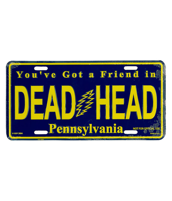 Grateful Dead GD Pennsylvania License Plate