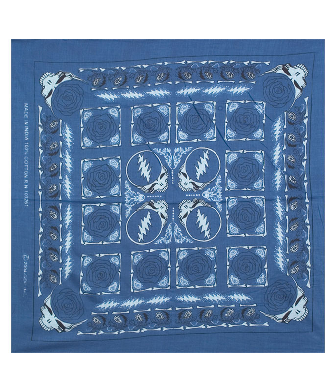 GD Rose Blue Bandana
