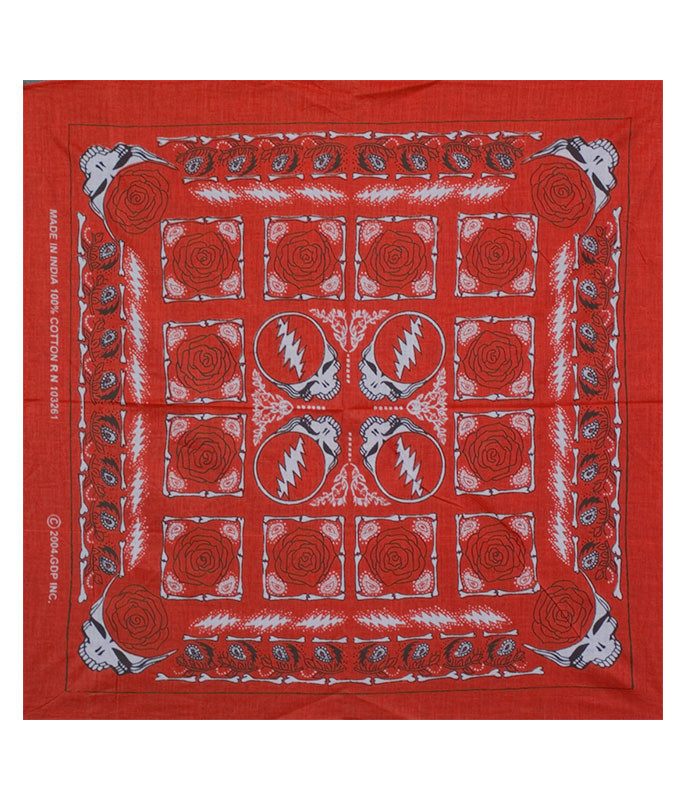 Grateful Dead GD Rose Red Bandana
