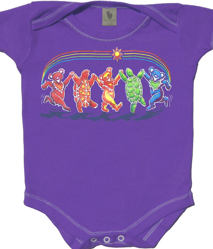 Grateful Dead Rainbow Critters Purple Onesie