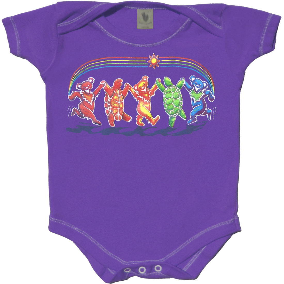 Rainbow Critters Purple Onesie