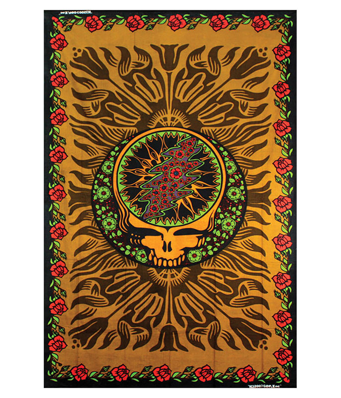 Grateful Dead Steal Your Face Rose Tapestry