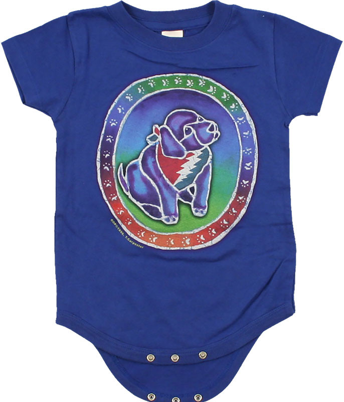 Grateful Dead GD Steal Your Puppy Blue Onesie