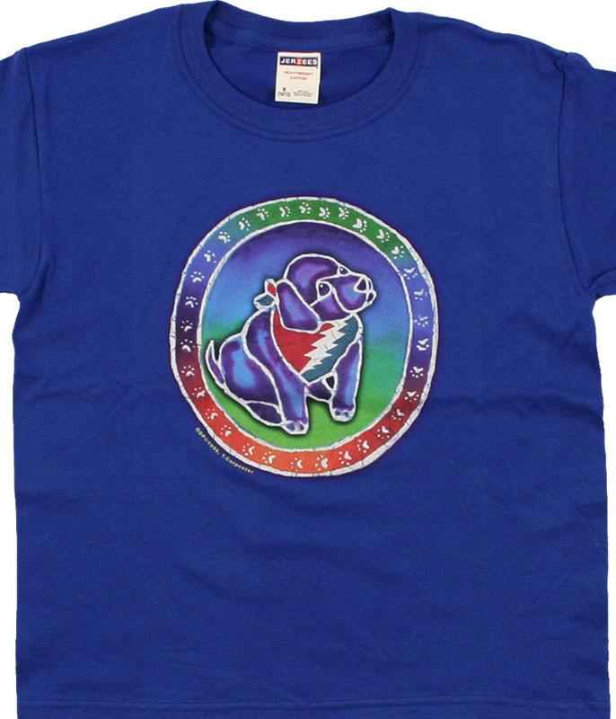 Grateful Dead Steal Your Puppy Blue T-Shirt Tee