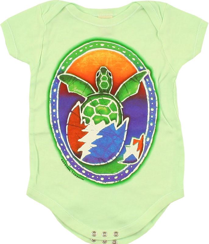 Grateful Dead GD Steal Your Turtle Green Onesie