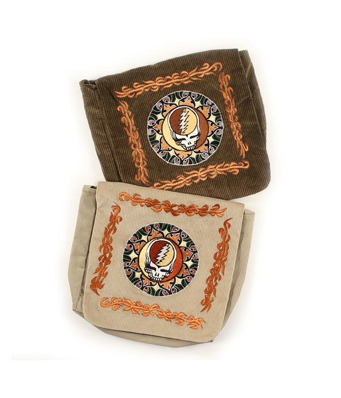 Grateful Dead Steal Your Face Embroidered Tote Assorted Bag