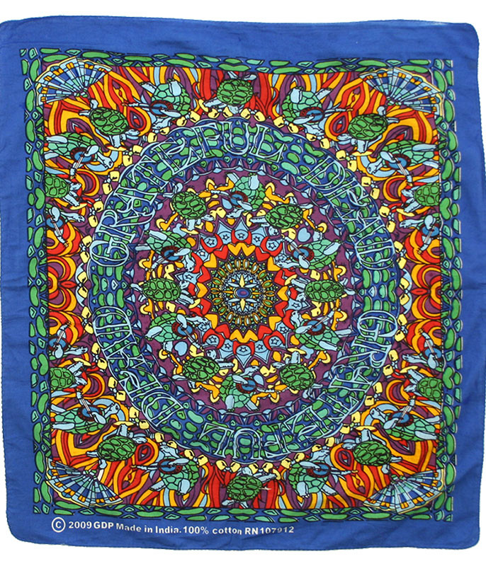 Grateful Dead Terrapin Dance Bandana Blue