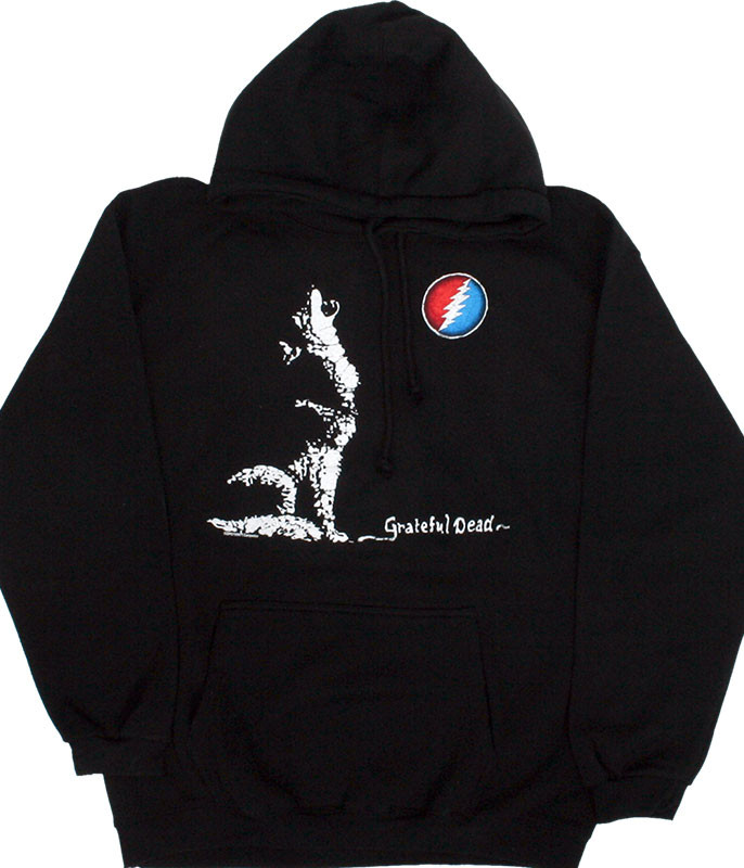Grateful Dead GD Wolf Moon Black Hoodie