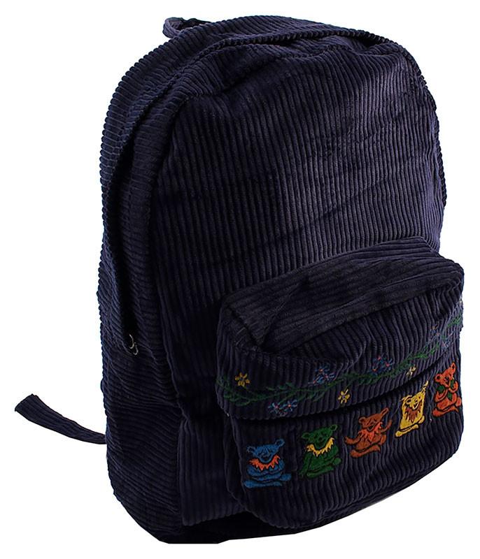 Grateful Dead GD Zen Bear Corduroy Backpack