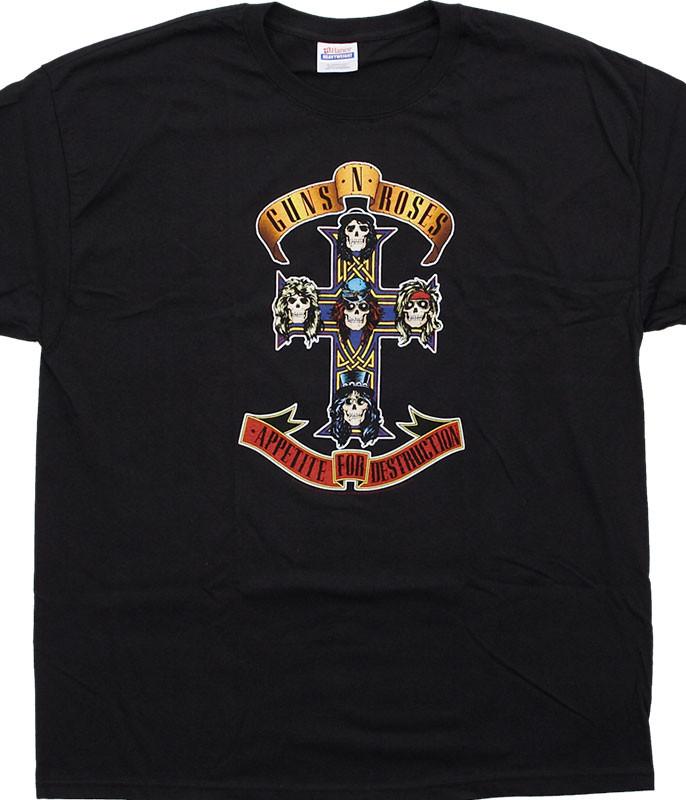 Guns N Roses Appetite For Destruction Black T-Shirt Tee