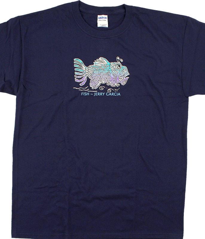 Grateful Dead Jerry Fish Navy T-Shirt Tee