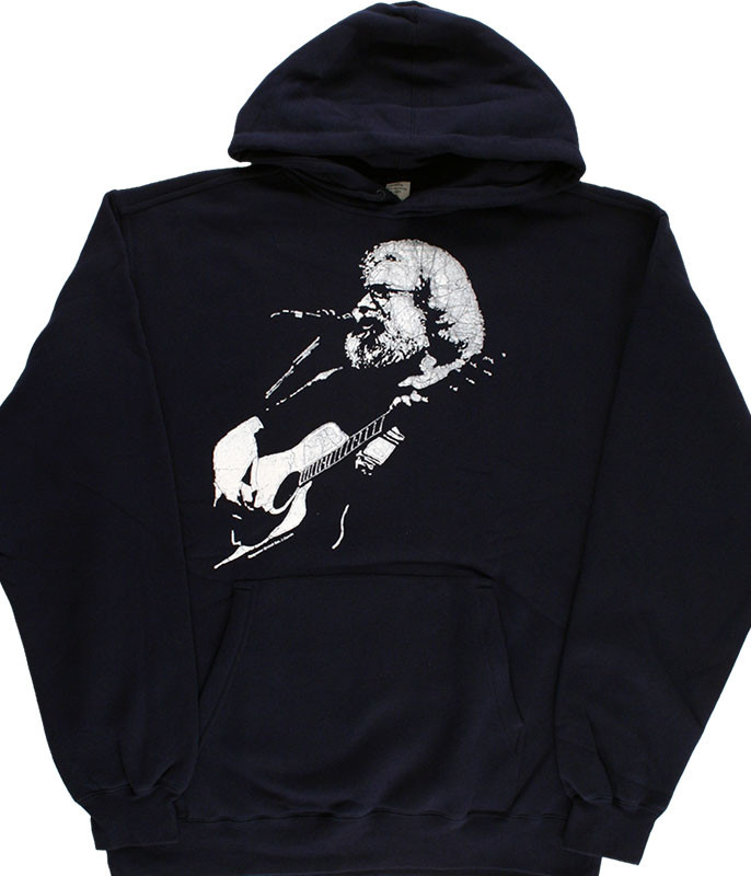 Grateful Dead Jerry Acoustic Navy Hoodie