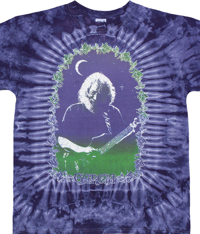 Grateful Dead Jerry Garcia Roses Tie-Dye T-Shirt Tee