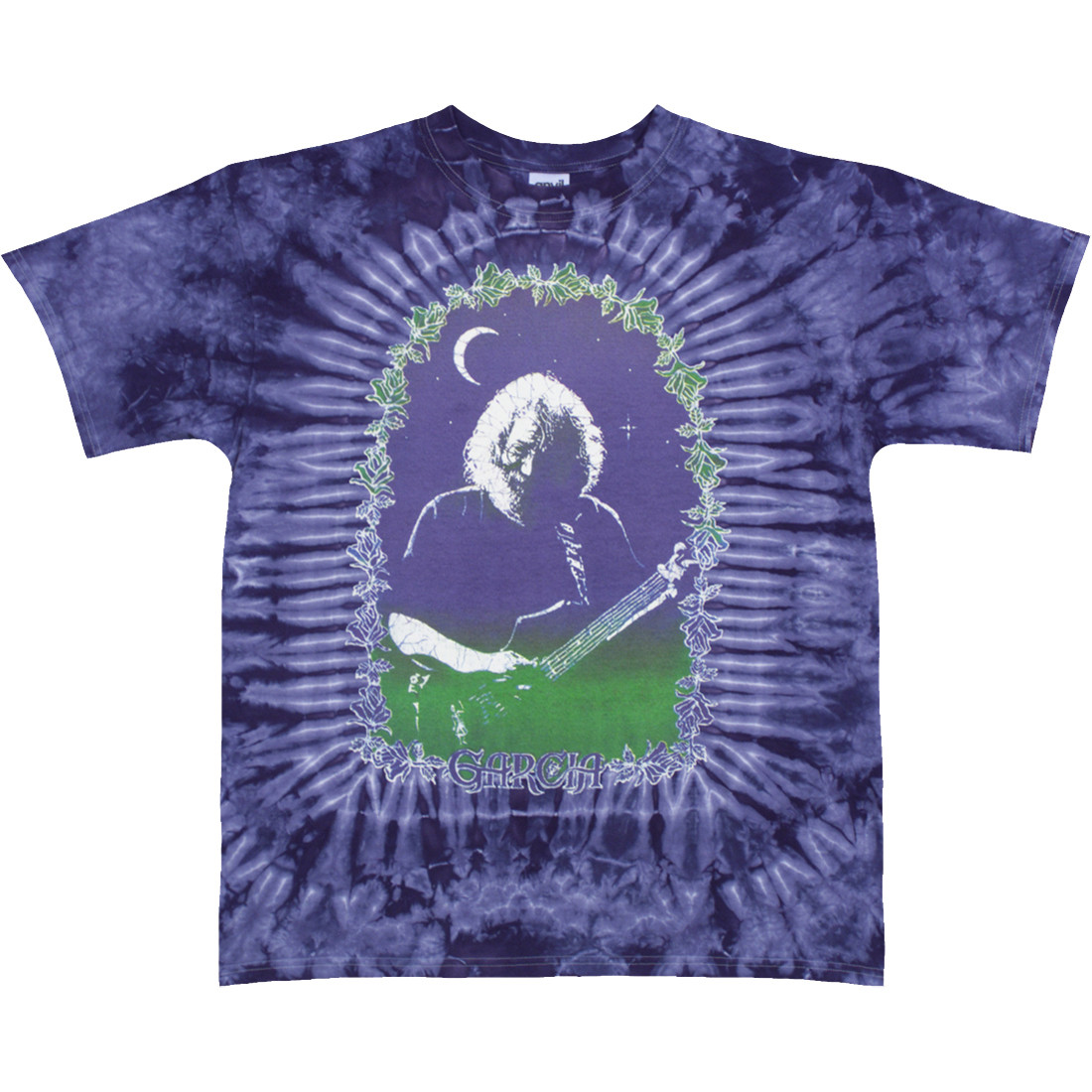 Jerry Garcia Roses Tie-Dye T-Shirt